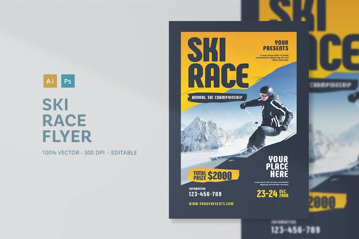 Thumbnail for Ski Race Flyer