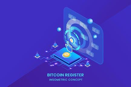 Bitcoin Register - Insometric Vector