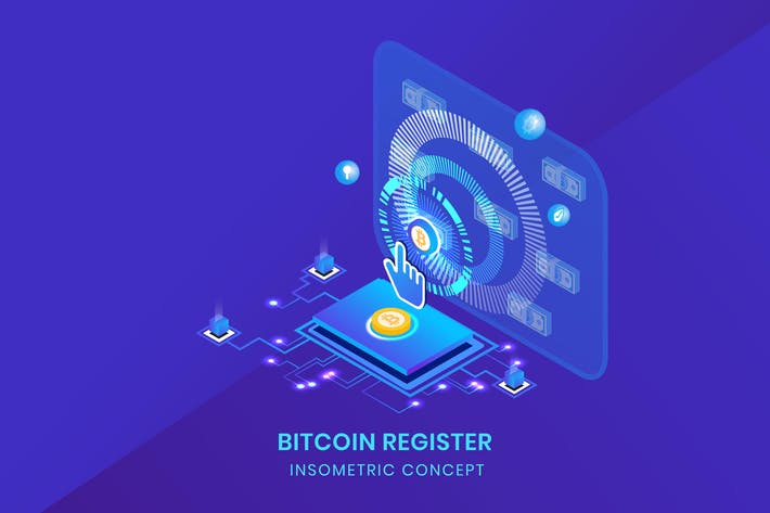 Thumbnail for Bitcoin Register - Insometric Vector