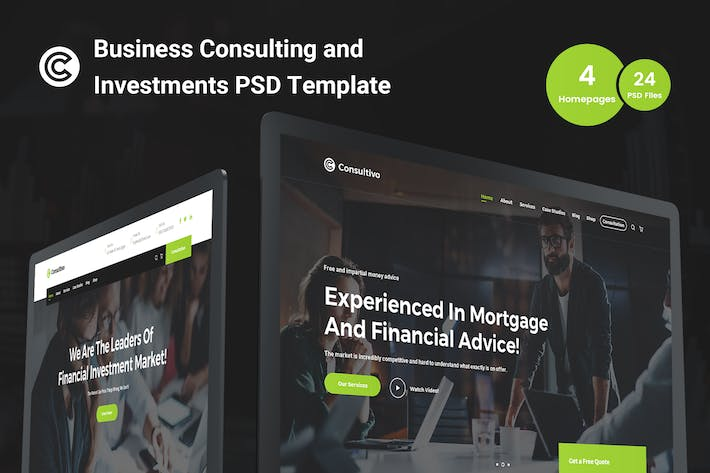 Thumbnail for Consultivo - Consulting & Investments PSD Template