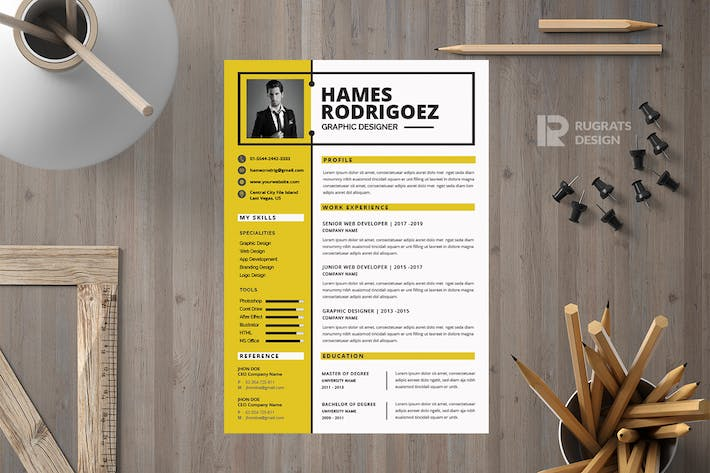 Thumbnail for Minimalist CV  Resume R31 Template