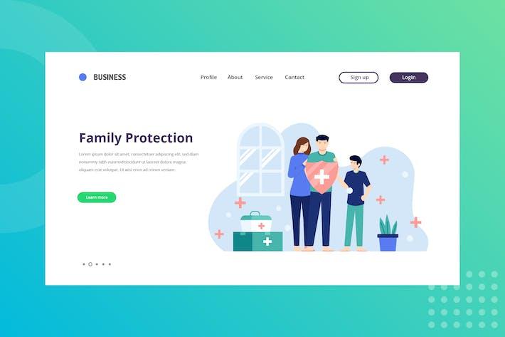 Thumbnail for Page de destination Protection de la famille