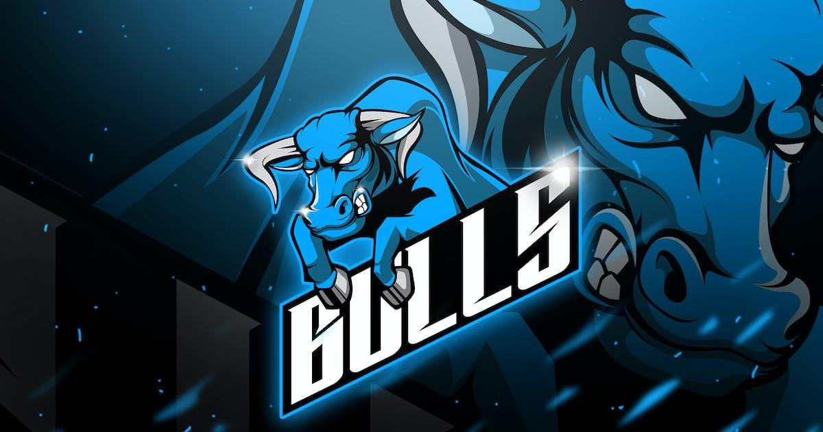 Bulls - Mascot & Esport Logo by aqrstudio
