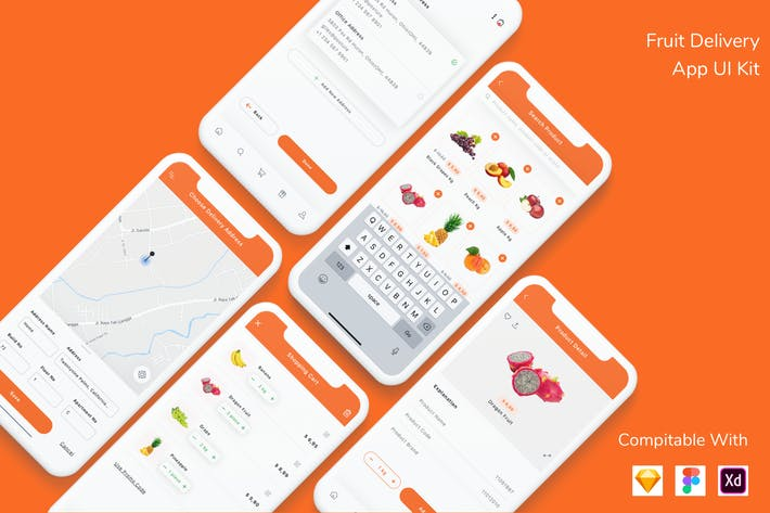 Thumbnail for Fruit Delivery App UI Kit