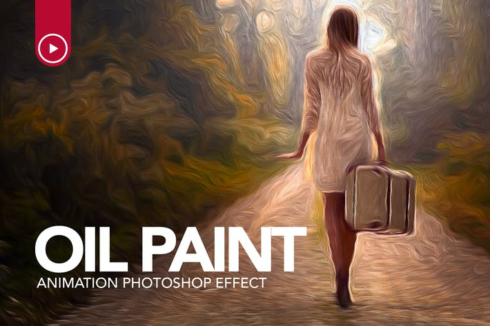 Thumbnail for Oil Paint Animation Photoshop Action