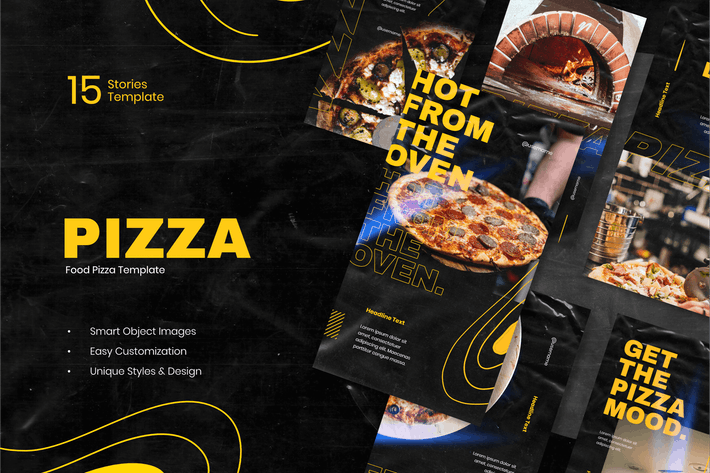 Thumbnail for Pizza Instagram Stories Template