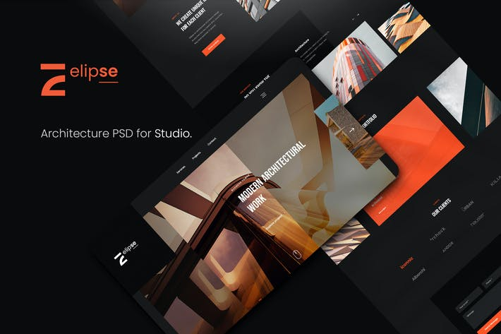 Elipse Architecture PSD Template