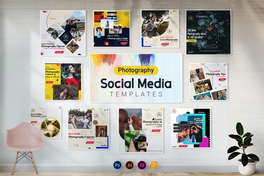 Photography Instagram Social Media Post Template