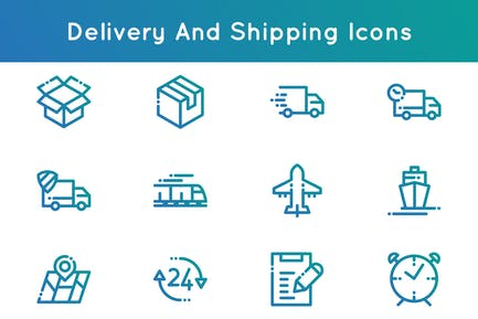 Delivery and Shipping Icons