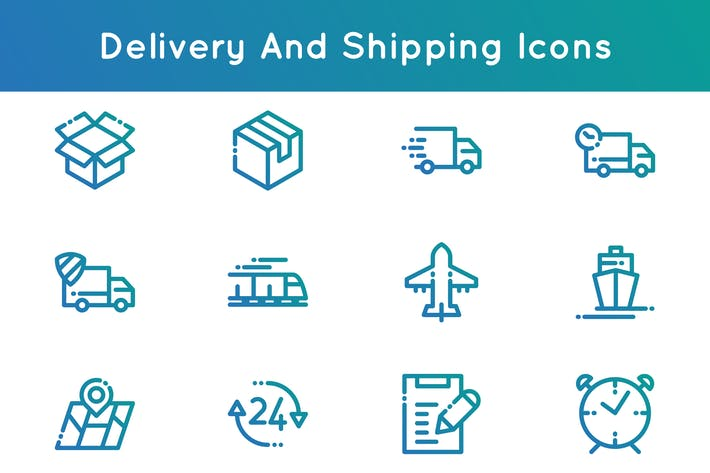 Thumbnail for Delivery and Shipping Icons