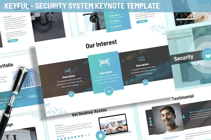 Thumbnail for Keyful - Security System Keynote Template