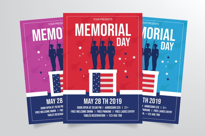 Thumbnail for Memorial Day Flyer Template
