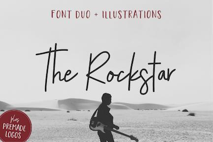 The Rockstar Font Duo