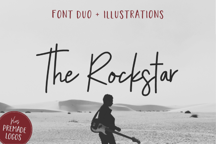 Thumbnail for The Rockstar Font Duo