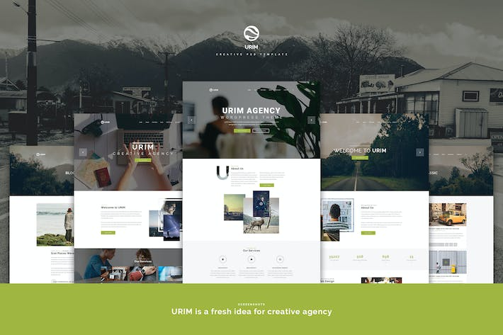 Thumbnail for Urim | Creative Multipurpose PSD Template