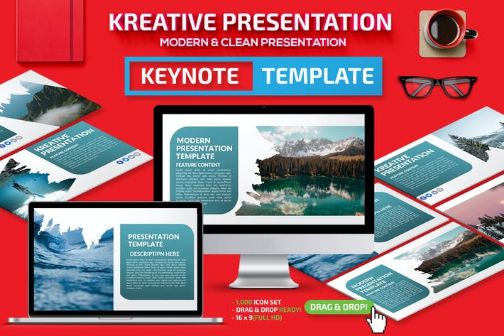 Cover Image For Kreative Keynote Presentation Template