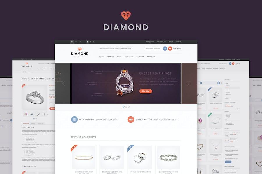 Diamond: Tema OpenCart Responsivo