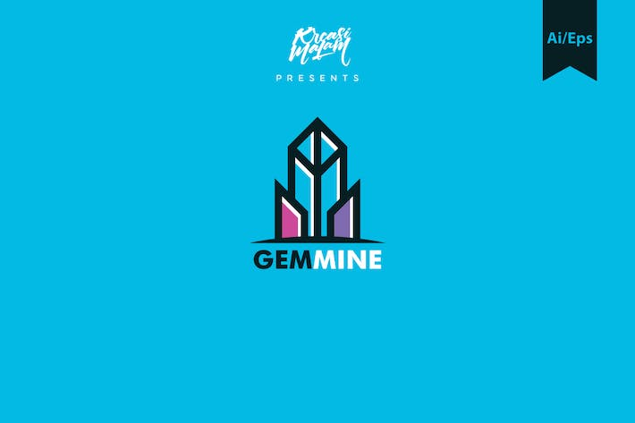 Thumbnail for Gem Mine Logo Template