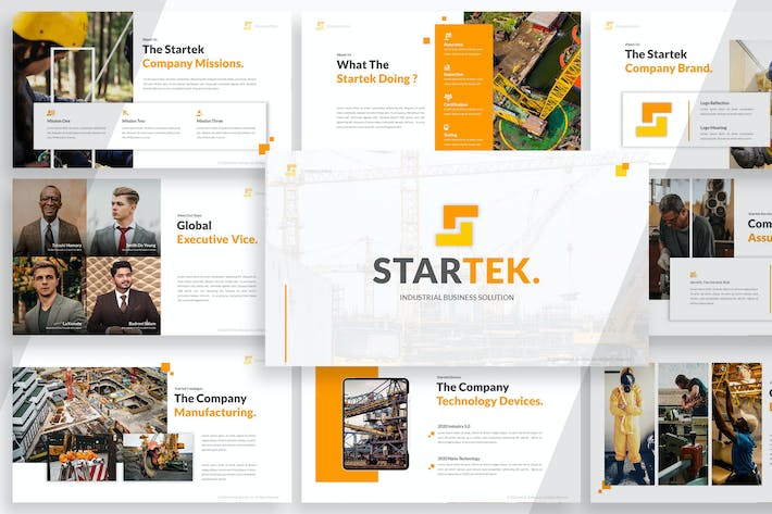 Thumbnail for Startek - Powerpoint Industrial Business Solution