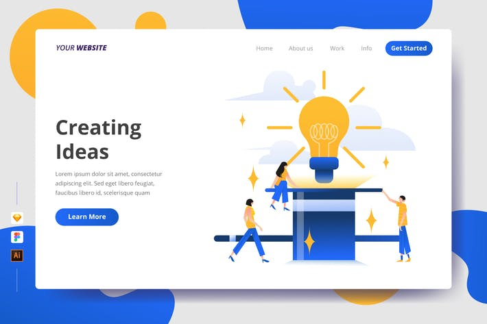 Thumbnail for Creating Ideas - Landing Page