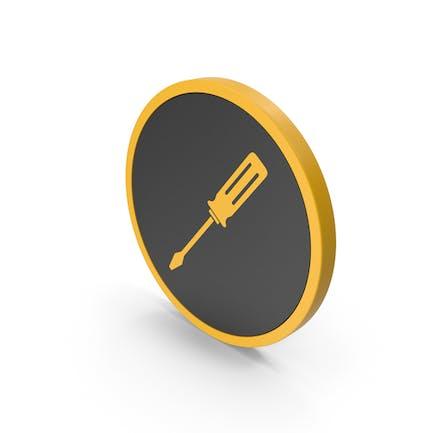 Icon Screwdriver Yellow