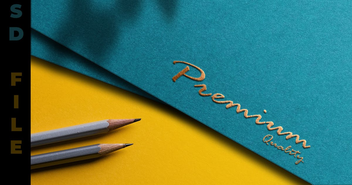 Download Gold Embossed Paper Texture - Logo Mockup by modaldesain