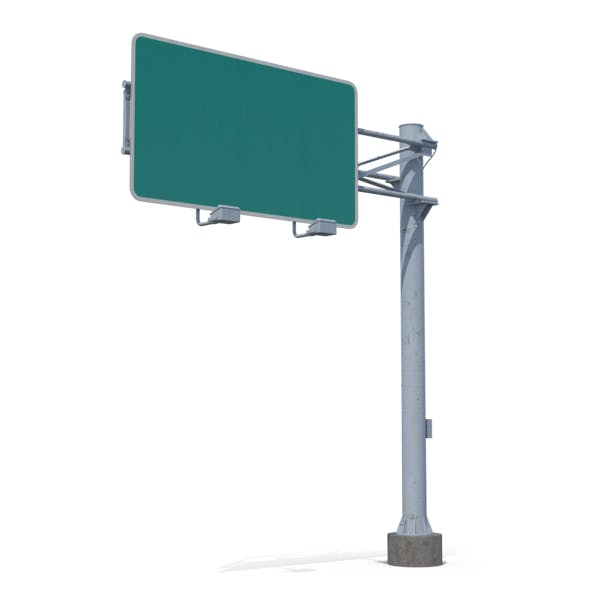 Blank Highway Sign