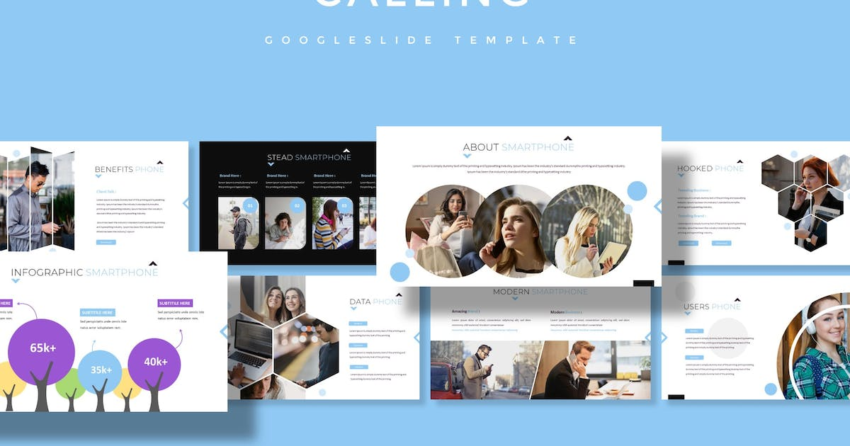 Download Calling - Google Slides Template by aqrstudio