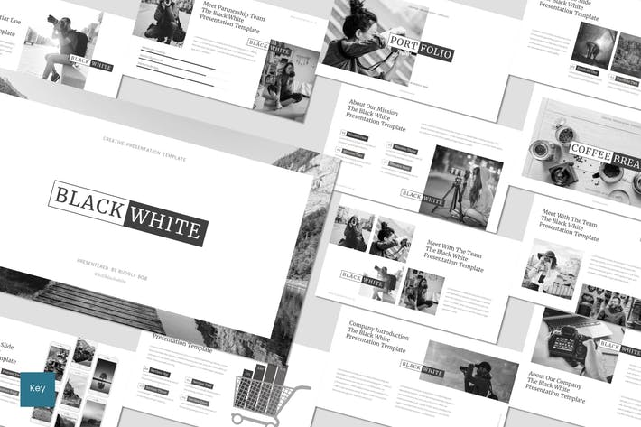 Thumbnail for Black and White - Keynote Template