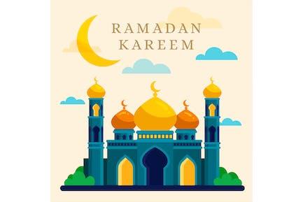 Flat Ramadan Kareem Mosque