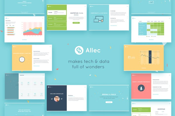 Thumbnail for Allec — Tech Agency Fullscreen PSD Template