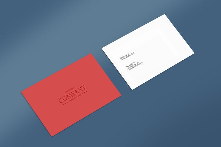 Thumbnail for Business Card Mock Up Vol 17