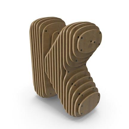 Holzsymbol K