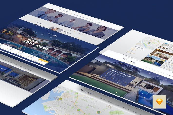 Thumbnail for RealHome - Versatile Real Estate Sketch Template