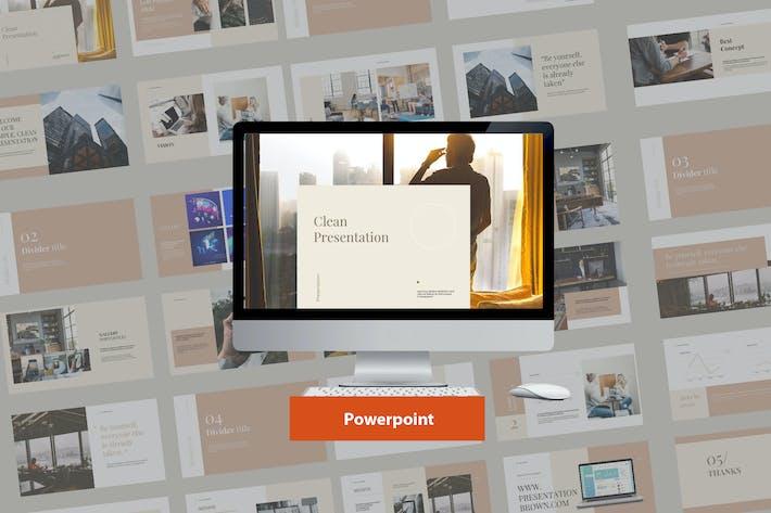 Thumbnail for Clean Modern Presentation Powerpoint