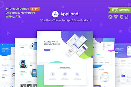 AppLand - WordPress Theme For App & Saas Products