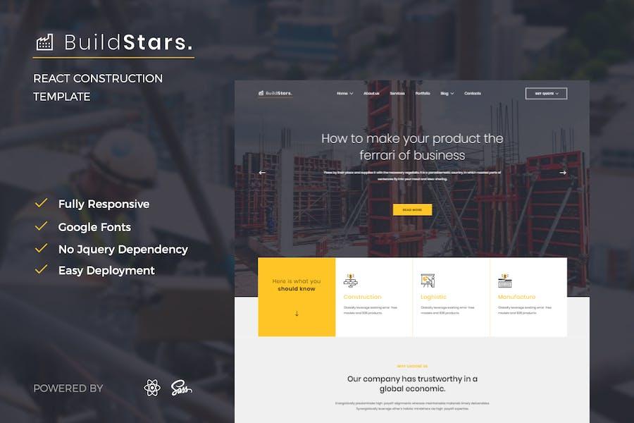 BuildStars - Reagieren KonstruktionsVorlage