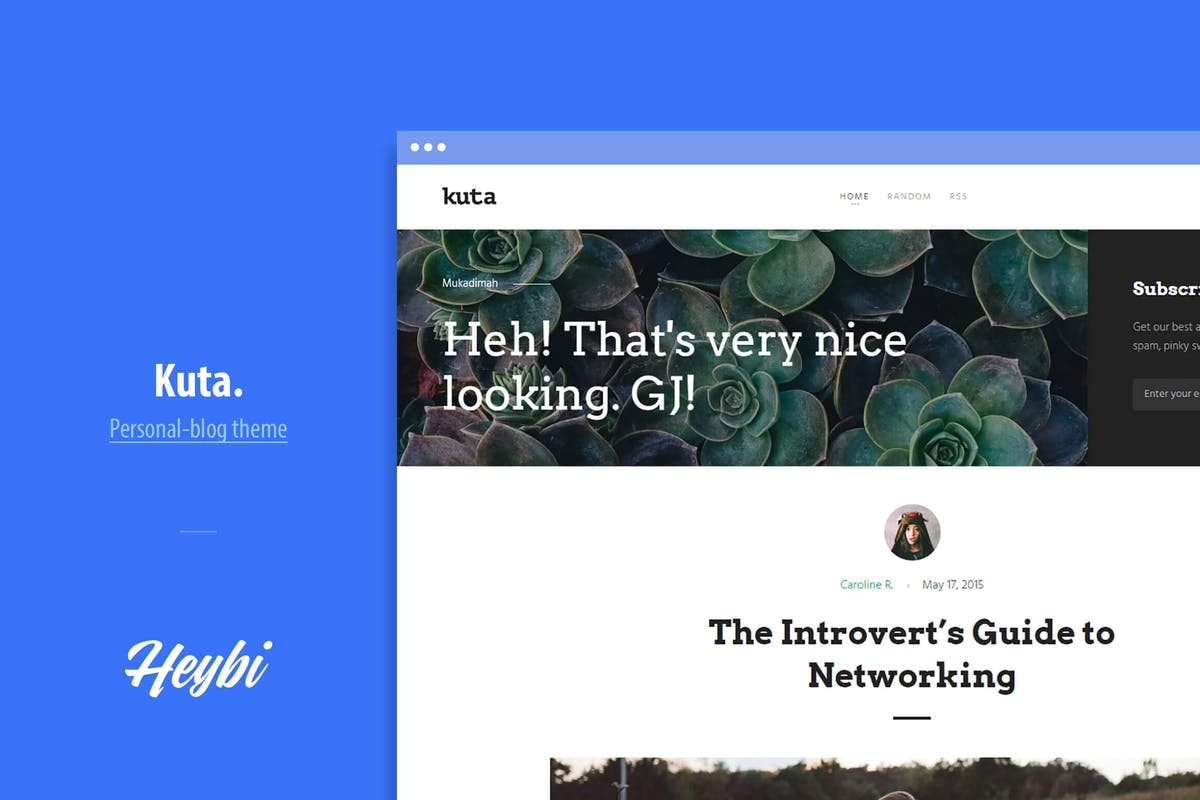 Download Kuta: Content-Focused Theme by Heybi by Unknow
