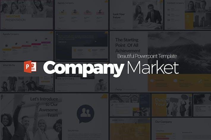 Презентация Powerpoint на рынке компаний