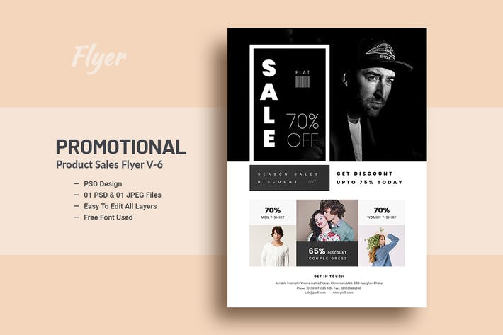 Cover Image For Promotional Product Sales Flyer V-6