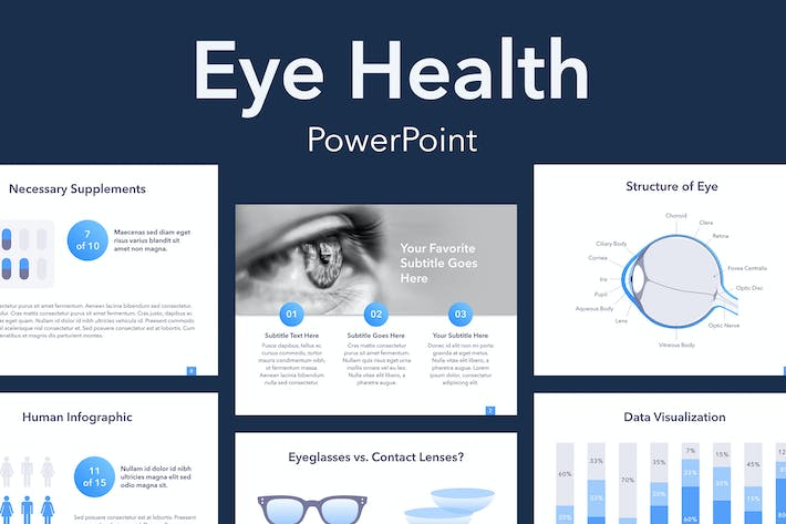 Thumbnail for Eye Health PowerPoint Template