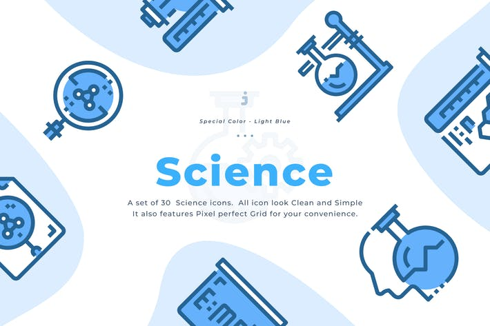 Thumbnail for 30 Science Icons - Light Blue