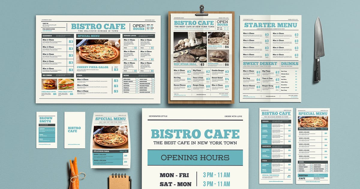 Download Newspaper Style Menu Package by Guuver