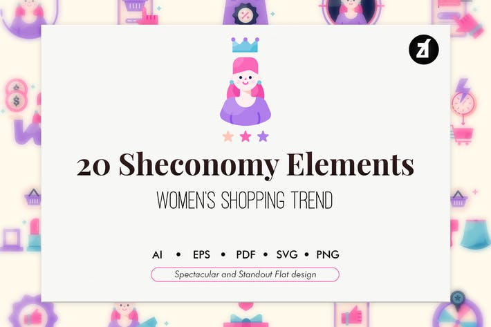 Thumbnail for 20 Sheconomy shopping elements