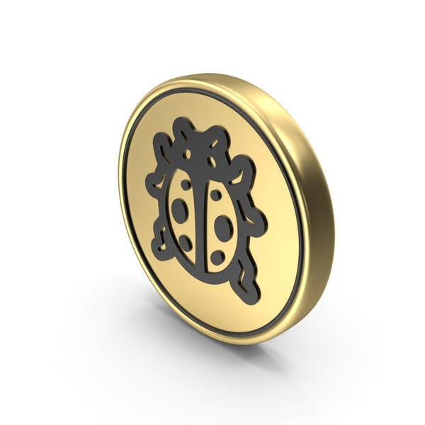 Lady Beetle Coin Logo Icon