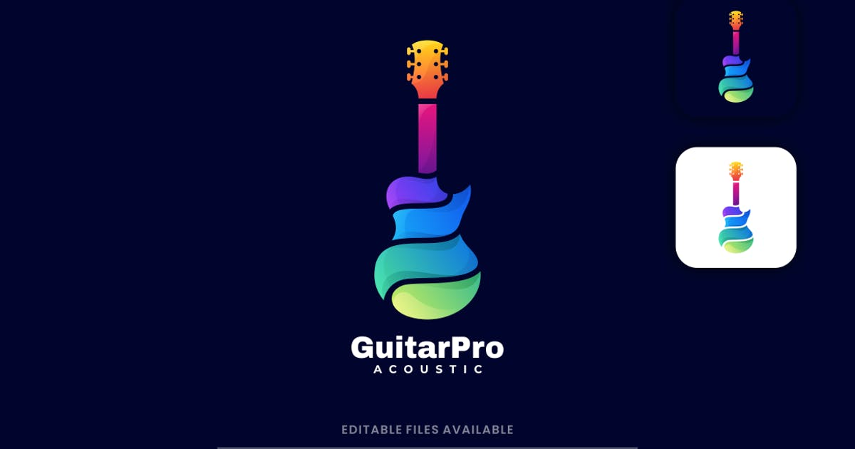 Download Guitar Gradient Colorful Logo by artnivora_std
