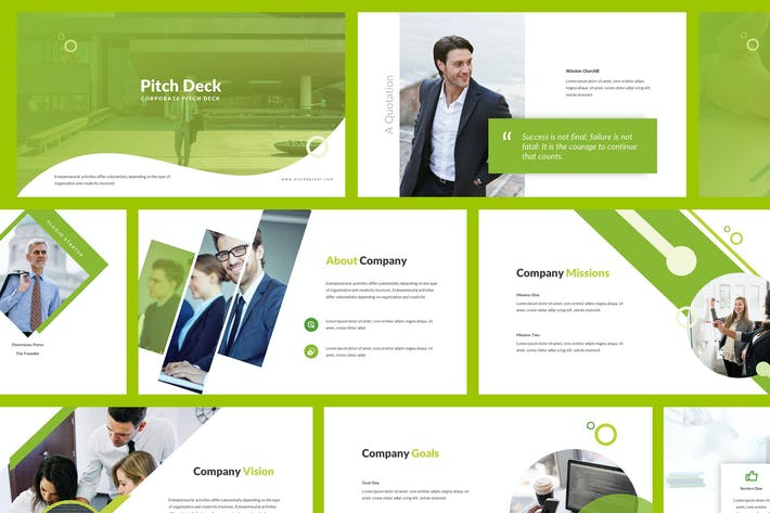 Cover Image For Pitch Deck Powerpoint Template
