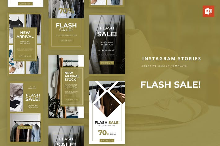 Thumbnail for Flash-распродажа Instagram История Powerpoint Шаблон