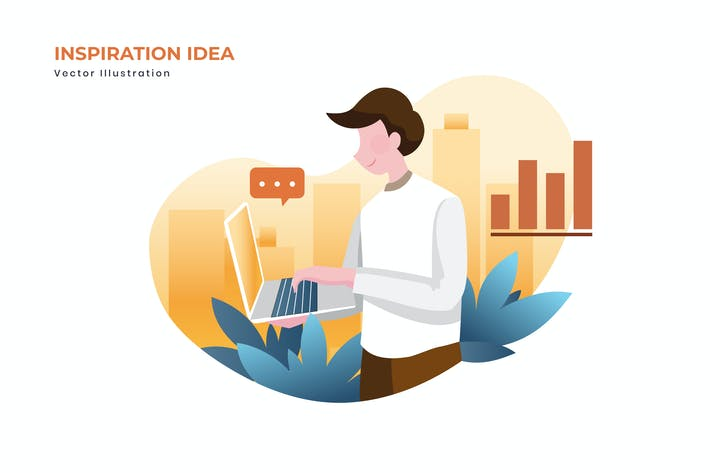 Thumbnail for Inspiration idea vector illustration