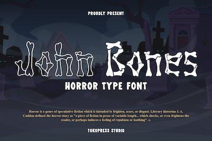John Bones - Scary Font
